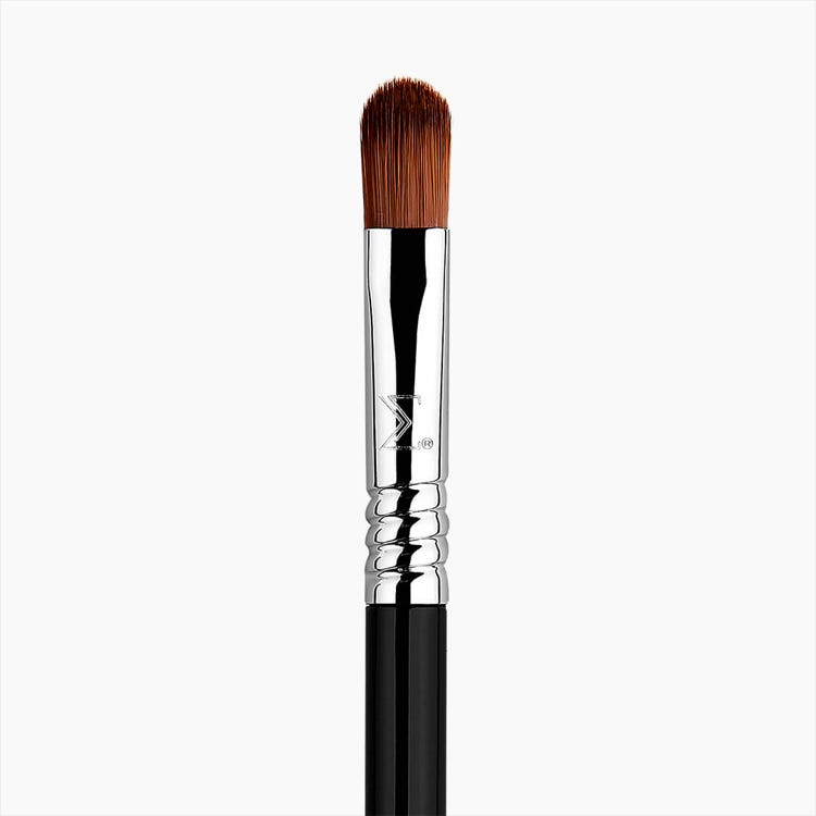 E58 Cream Color Eye Brush - Black/Chrome
