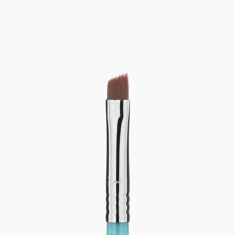 Travel-Size E65 Small Angle Brush - Aqua/Chrome