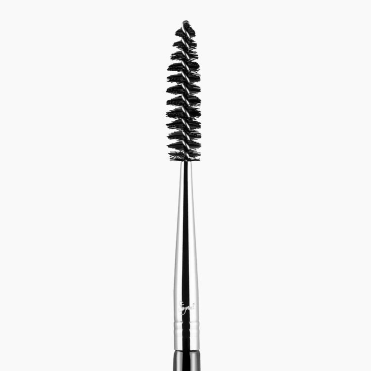 E80 Brow and Lash Brush Chrome close-up view