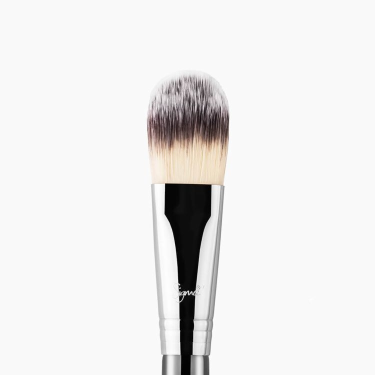 F60 Foundation Brush Chrome close-up view