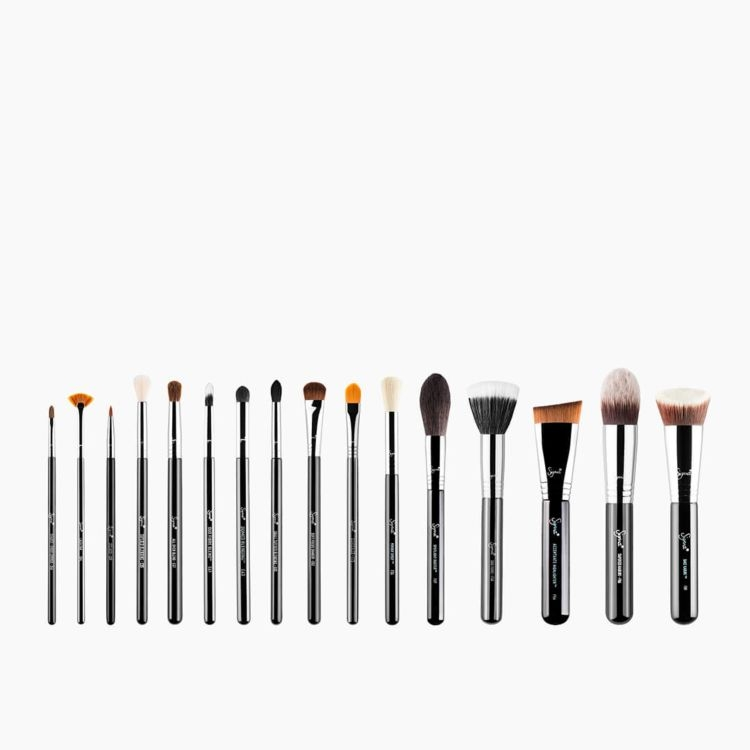 Ultimate Chrome Makeup Brush Set