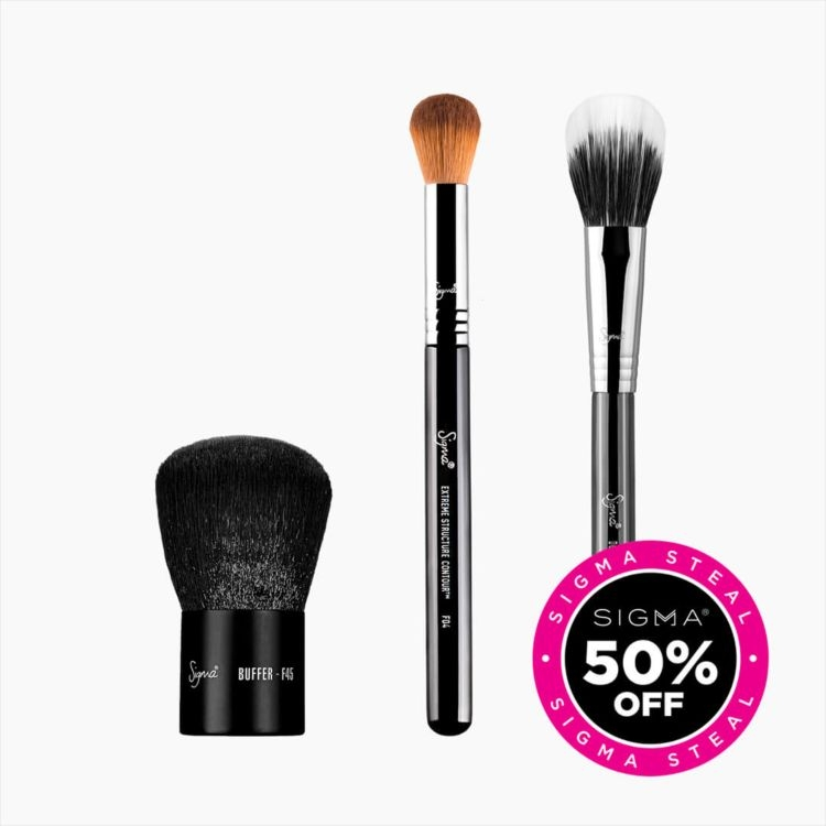 Primary Face Makeup Brush Trio