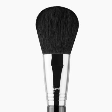 F20 Large Powder Brush Chrome close-up view
