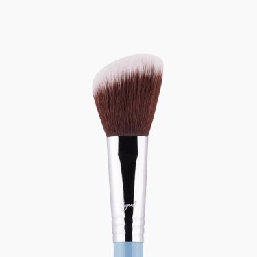 F40 Large Angled Contour Brush Blue close-up view