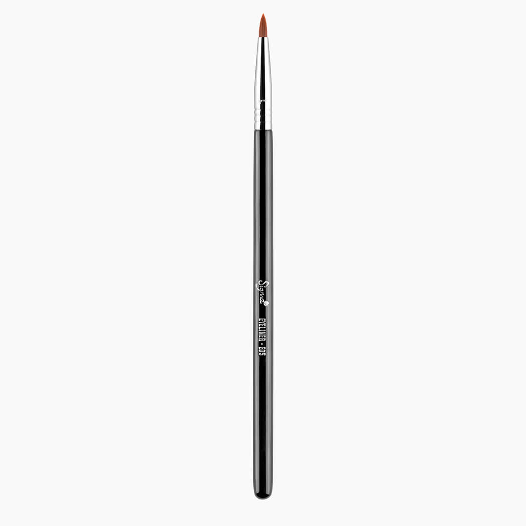 E05 Eye Liner Brush - Black/Chrome