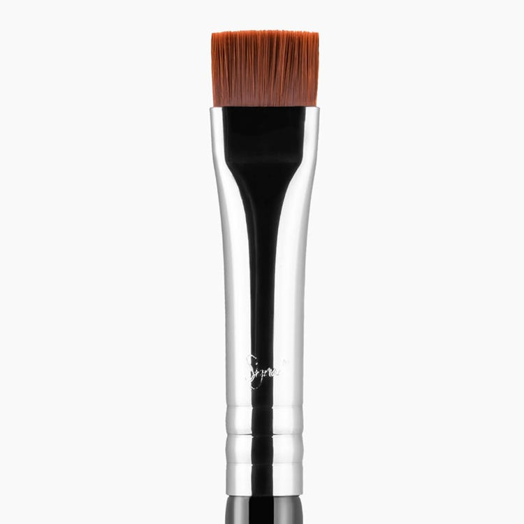 E15 Flat Definer Eye Brush - Black/Chrome