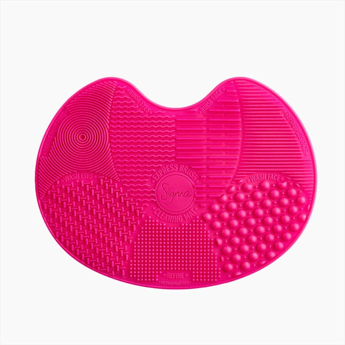 Sigma Spa® Express Brush Cleaning Mat - Pink Hero