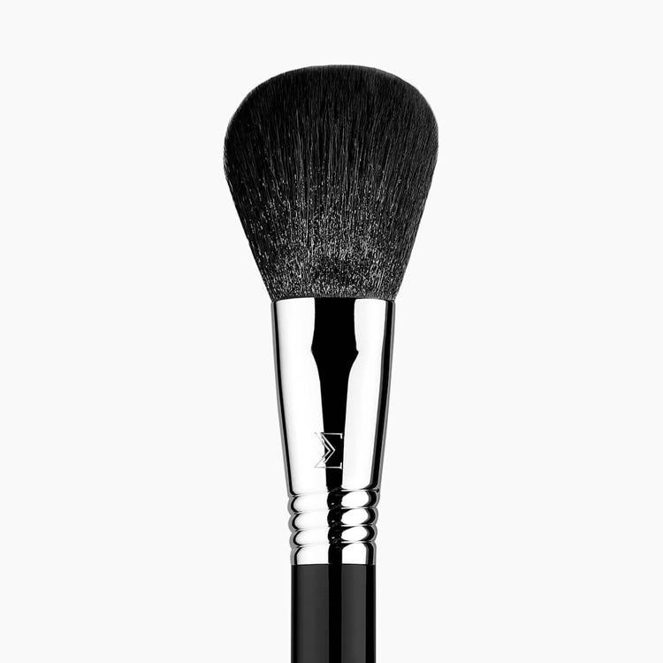 F30 Large Powder Brush Chrome close-up view