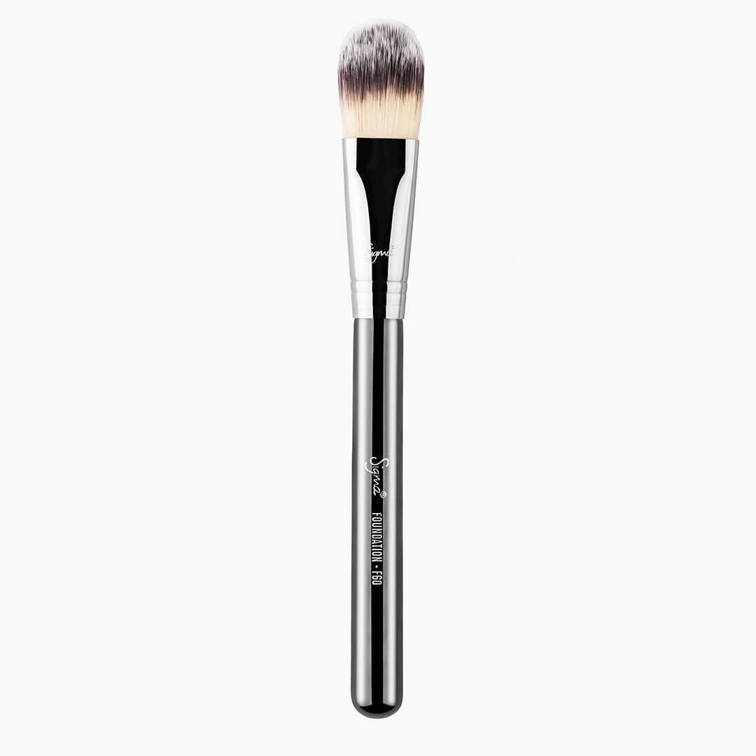 F60 Foundation Brush Chrome full view