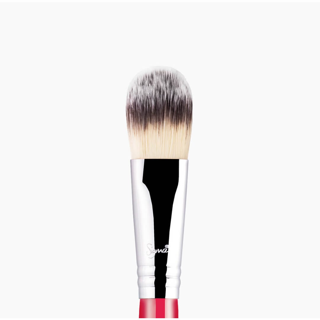 F60 Foundation Brush Coral close-up view