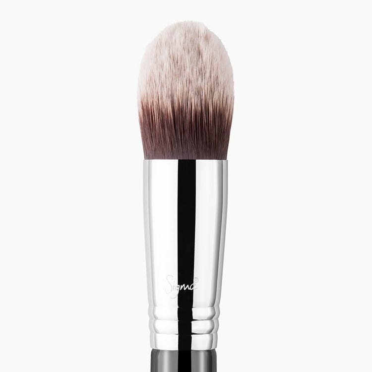 F86 Tapered Kabuki Brush Chrome close-up view