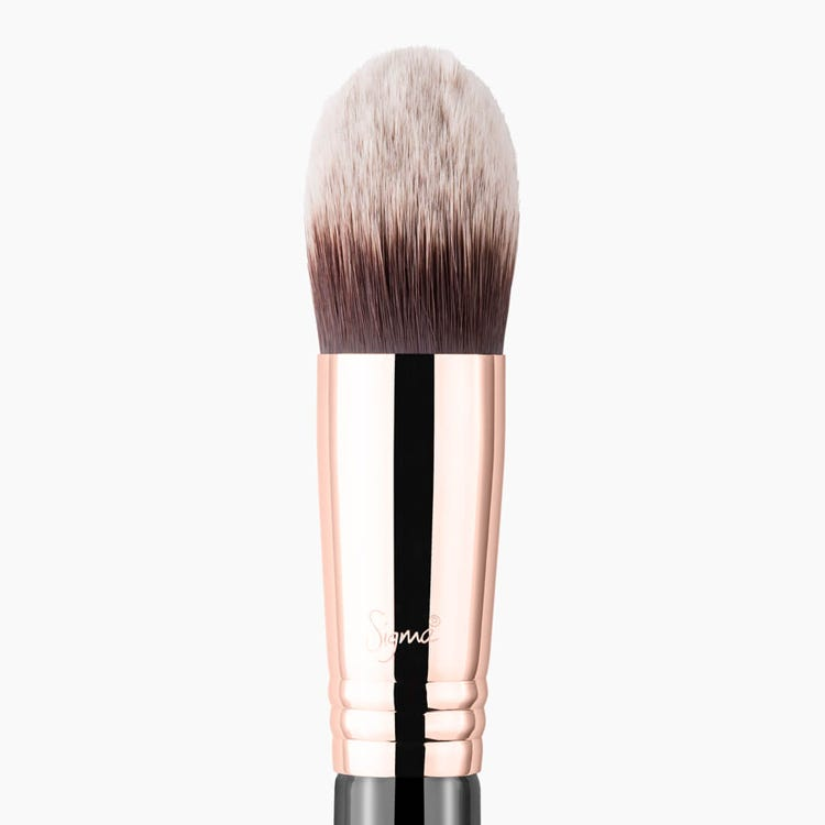 F86 Tapered Kabuki Brush Copper close-up view