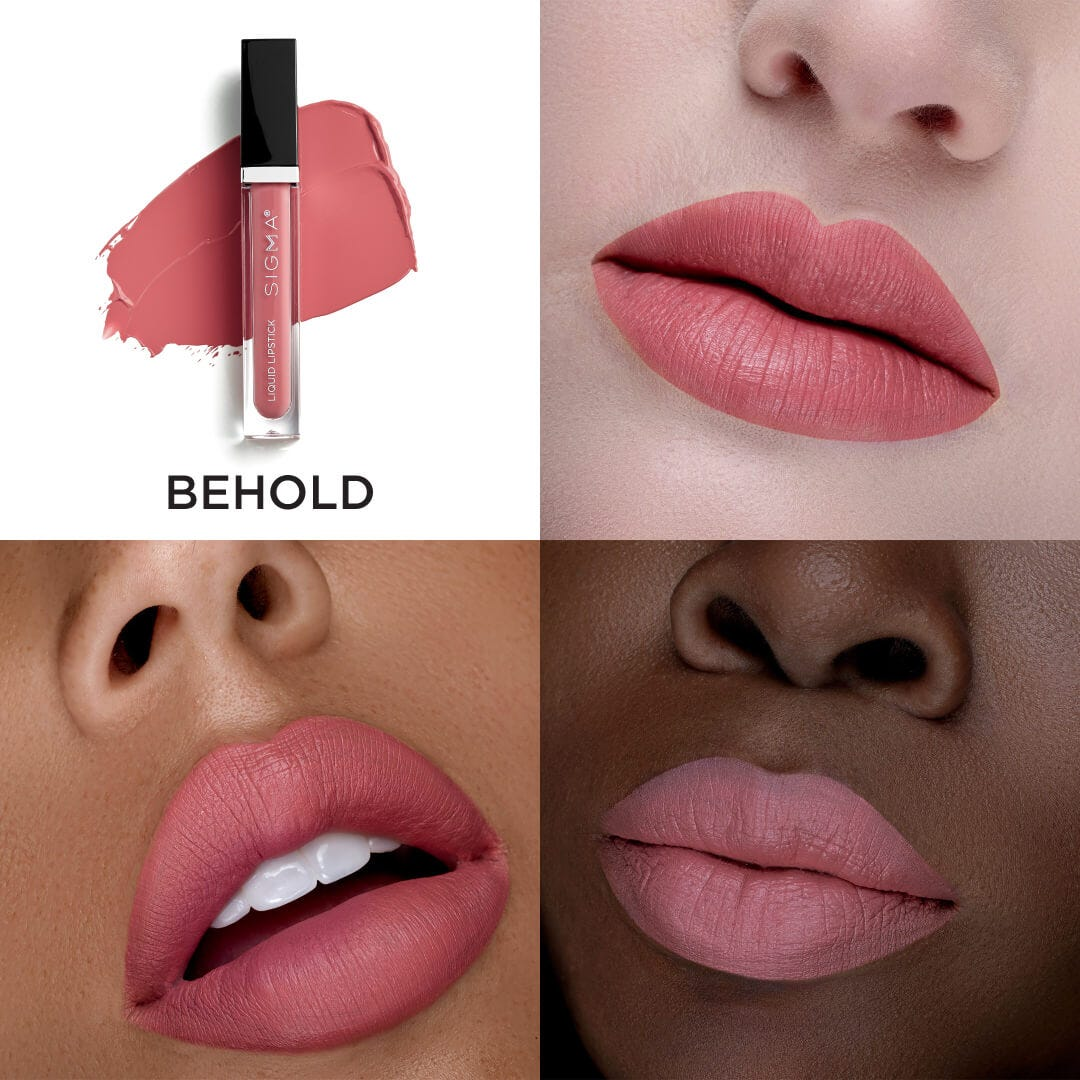 Liquid Lipstick Set Swatch Behold