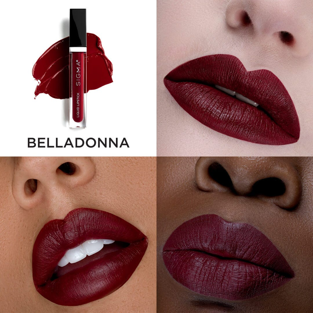 Liquid Lipstick Set Swatch Belladonna
