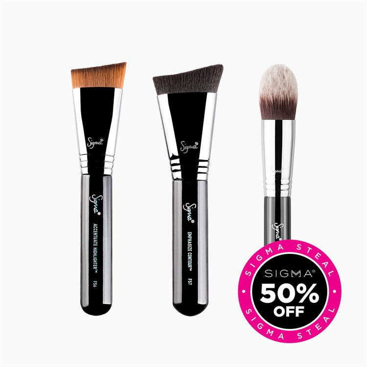 Cream Complexion Brush Set