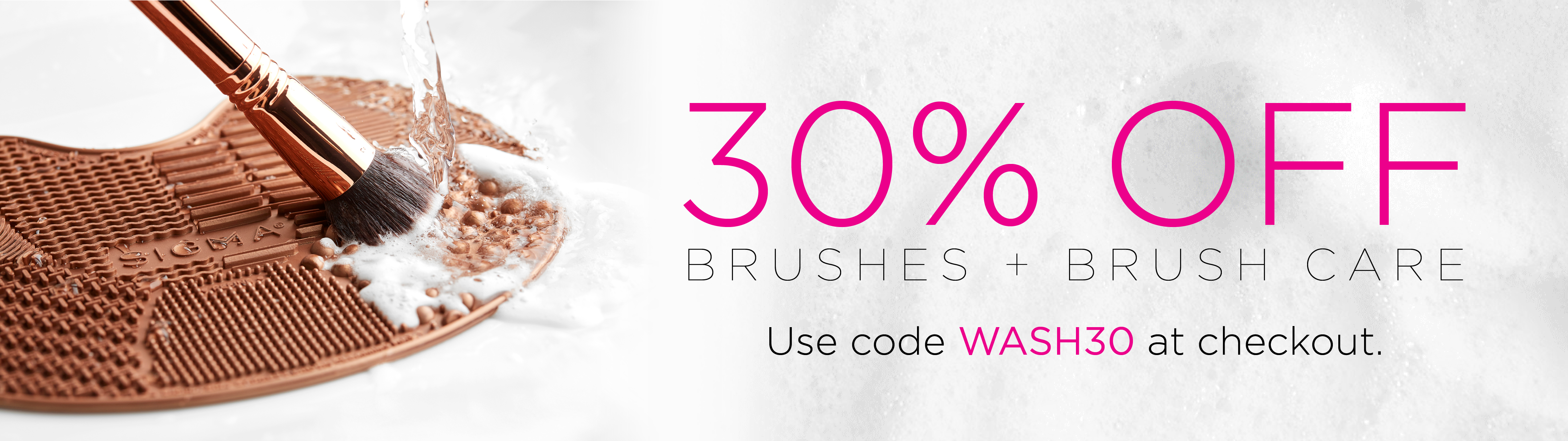 30% Off Brushes + Brush Care with code WASH30