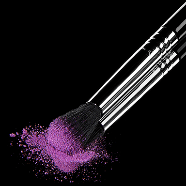 E40 Blending Brush with eyeshadow