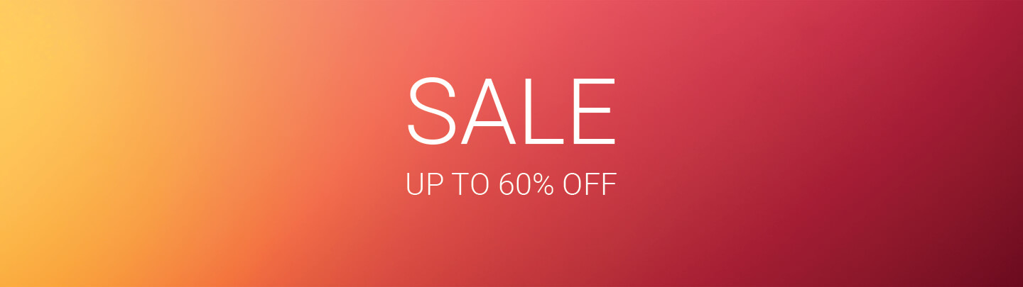 Sale Banner: Up to 60% off